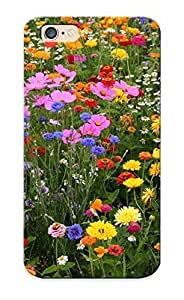 Case For Iphone 6 Tpu Phone Case Cover(multicolored Flowers ) For Thanksgiving Day's Gift