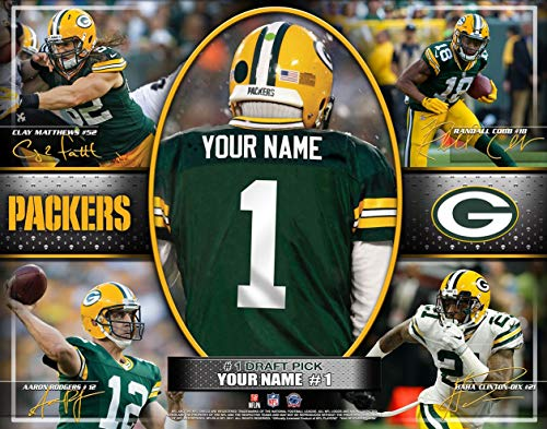 Photo Photo File - Photo File Action Collage Green Bay Packers Unframed Poster 12x16 Inches