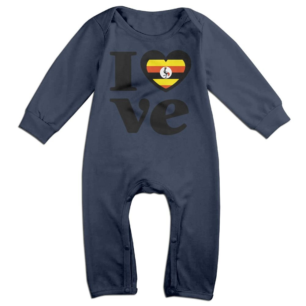 Toddler Baby Boy Girl Bodysuits Love Uganda Toddler Jumpsuit
