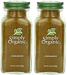 Simply Organic Cinnamon Ground Certified Organic, 2.45-Ounce Container (Pack Of 2)