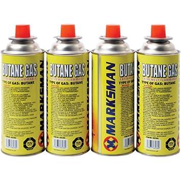 4 xbutane botellas de gas para estufa portátil de cocina Camping cocina estufa: Amazon.es: Jardín