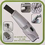 Mini Desktop Vacuum Cleaner - White(Use alkalines only)