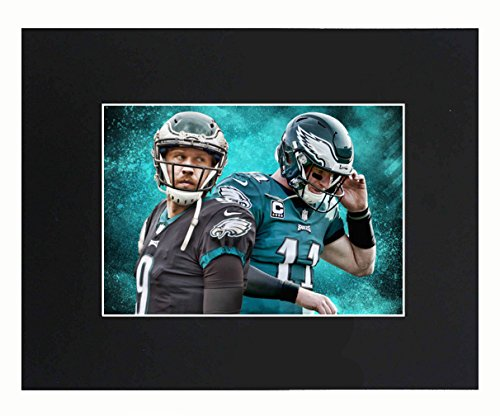 Philadelphia Eagles EAGLES NFL 2018 Super Bowl Champions Nick Foles Carson Wentz Football Team Art Print Picture poster 8x10 Matted Print Printed Picture Photograph Gift Wall Decor Display USA Seller (Photo Nfl Football)