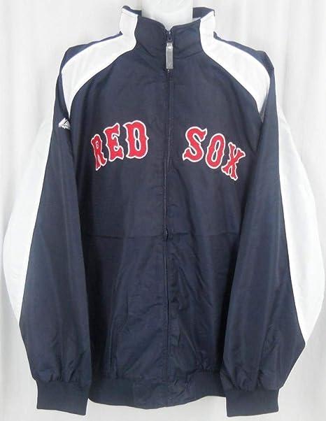 118c3800 Majestic Boston Red Sox MLB Textured Full Zip Navy Jacket Big & Tall Sizes  (3XT