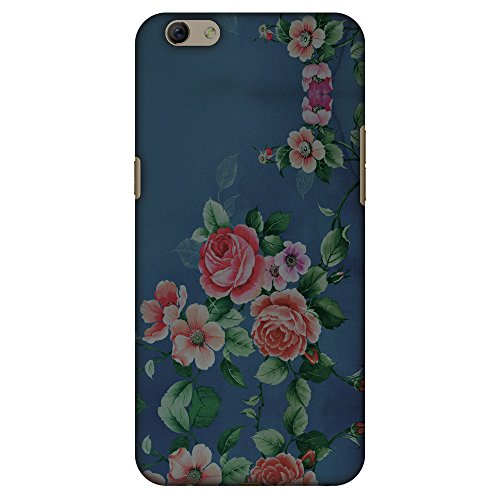 AMZER Slim Fit Handcrafted Designer Printed Hard Shell Case Back Cover for Oppo R9s - Rose Print Provencal (Print Provencal)