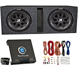 12 inch subwoofer and amp package - 2) Kicker 43C124 600 Watt 12