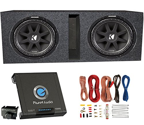 "2) Kicker 43C124 600 Watt 12"" Subwoofers + Ported Box Enclosure + Amp + Wiring"
