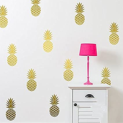Pineapple Wall Decal Large 12 Set Pineapples Sticker / Home Decor Nursery Kids  Bedroom Vinyl Wall