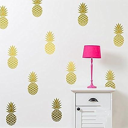 YOYOYU ART HOME DECOR Pineapple Wall Decal Large 12 Set Pineapples  Sticker/Home Decor Nursery