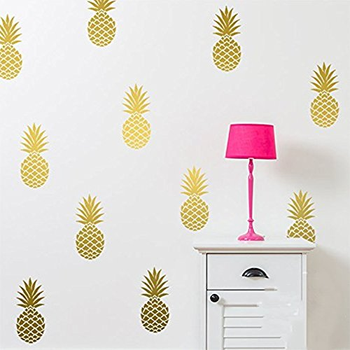 pineapple wall decal large 12 set pineapples sticker home decor nursery kids bedroom vinyl wall