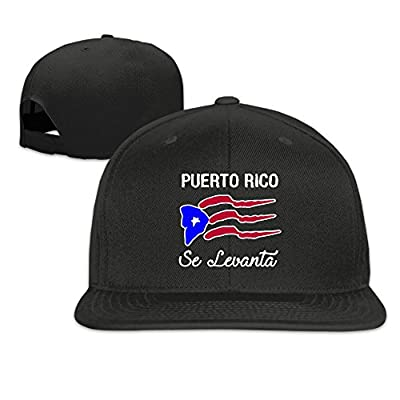Puerto Rican Flag Plain Adjustable Snapback Hats Men's Women's Baseball Caps