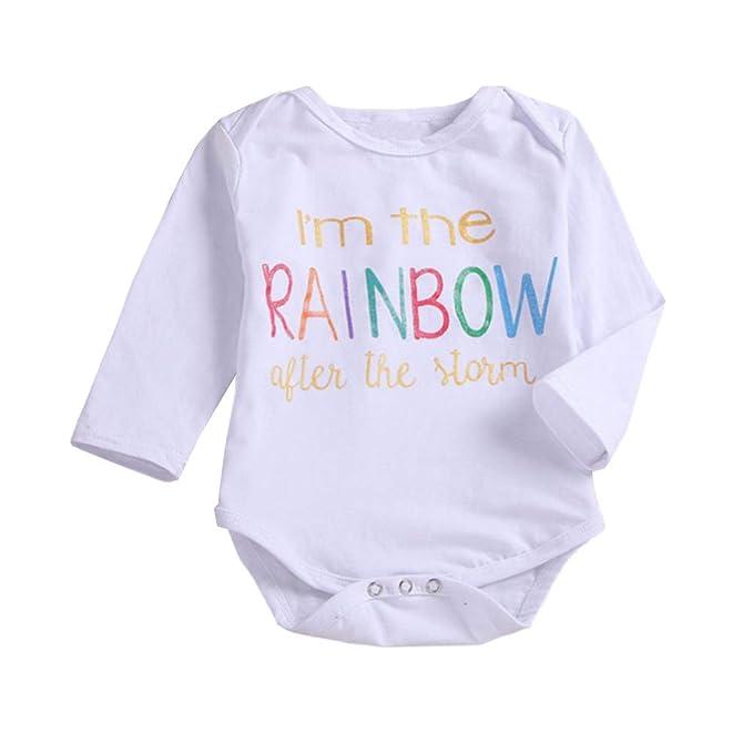 Amazon.com: outgle bebé recién nacido niña Pelele de manga ...