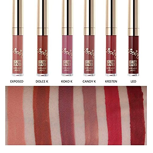 TOPBeauty 6pcs/set Matte Lipstick Set, Matte Velvety Liquid Lipstick Waterproof Natural Liquid Lip gloss, Long Lasting Lip Gloss Non-Stick Cup Moisturizer Liquid Lipstick,Lip Stick Cosmetics mini set