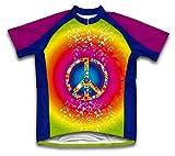 Tie Dye Hippy Short Sleeve Cycling Jersey for Men - Size L