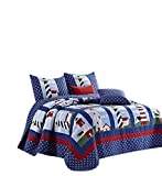 Duke Imports DQ650T Lighthouse 3Piece Lighthouse Microfiber Quilt Set,,Twin