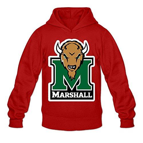 QK Marshall University Thundering Herd Men's Fashion Hooded Sweatshirt S Red (Marshall Thundering Herd Lamp)