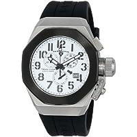 Swiss Legend Men's 10542-02-BB Trimix Diver Chronograph White Dial Black Silicone Watch