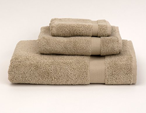 (TowelSelections Pearl Collection Luxury Soft Towels - 100% Turkish Cotton, Made in Turkey, Desert Sand, 3-Piece Set)