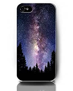 Cases for iPhone 5 5S, UKASE Phone Case Skins with Magic Heaven Pattern Print of Beautiful Sky Night and Trees