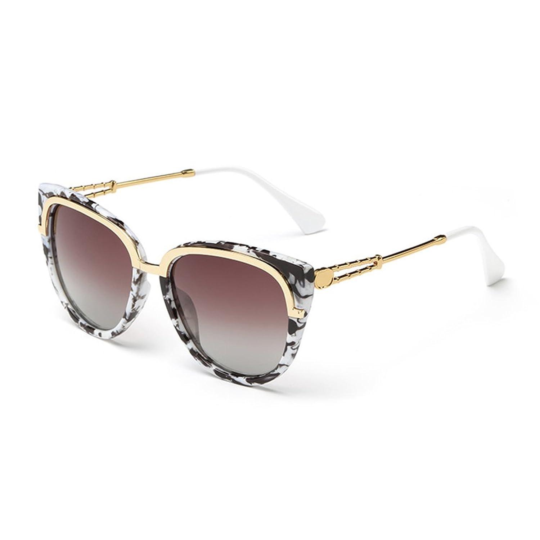 Coolsunny Cat Eye Mirrored Flat Lenses Metal Frame Women Sunglasse CS7039