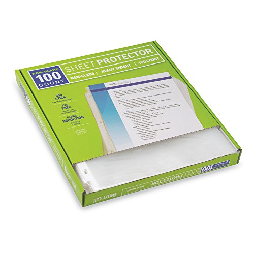 Samsill Heavyweight Non-Glare Poly Sheet Protectors, Box of 100, Acid Free & Archival Safe, Top Loading, Letter Size - 8.5 x 11 Photo #6