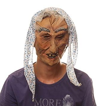 película de baile de Halloween máscara de látex apoyos bruja máscara de bruja extraña anciana