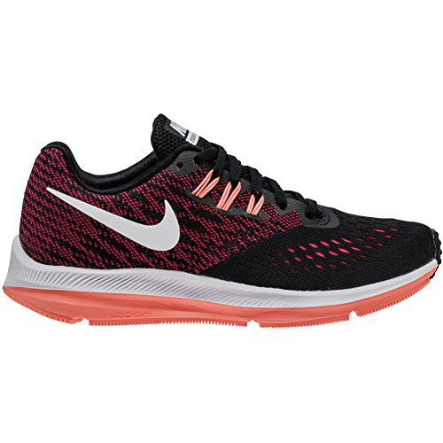 New Nike Women's Zoom Winflo 4 Running Shoe Black/Racer P...