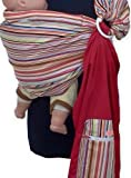 REVERSIBLE ADJUSTABLE baby sling carrier ring sling Multi Color Strip