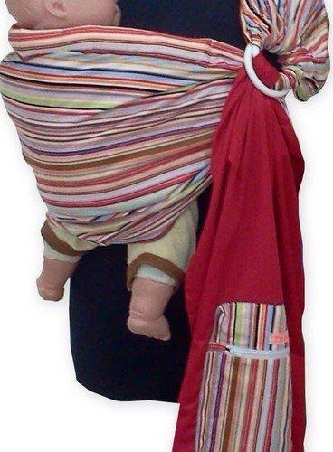 REVERSIBLE ADJUSTABLE baby sling carrier ring sling Multi Color Strip