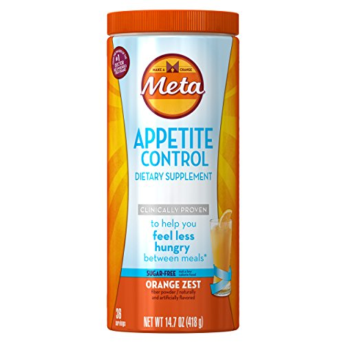 Metamucil Appetite Control Weight Loss Supplements, Orange Zest Sugar Free Fiber Appetite Suppressant, 36 Doses