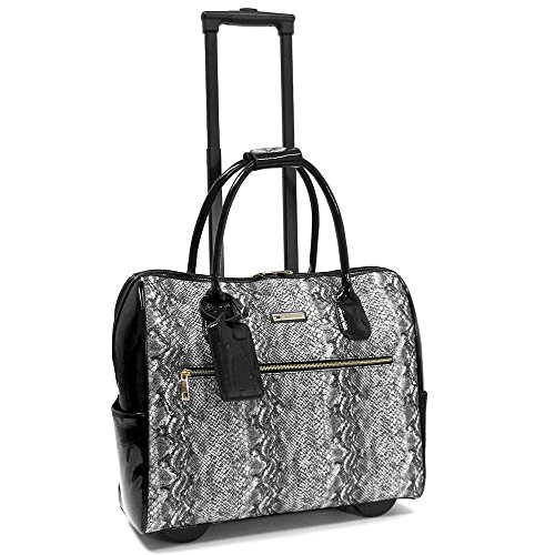 cabrelli-vicky-viper-15-inch-laptop-bag-on-wheels-briefcase-black-white
