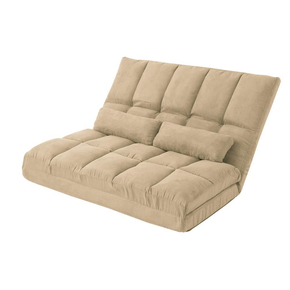 3WAY ハイバック リクライニング ソファ マット 120幅 座椅子 座いす 座イス ワイド チェア クッション ブラウン アイボリー ネイビー グリーン (アイボリー) B07HY6LBFX アイボリー