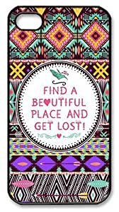 IMARTCASE iPhone 4S Case, Hipster Seamless Tribal Pattern PC Black Hard Case Cover for Apple iPhone 4S/5 by heywan