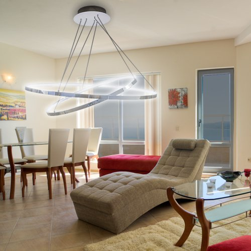 lu-mi® led pendelleuchte höhenverstellbar küchen deckenleuchte ... - Deckenlampen Für Küchen