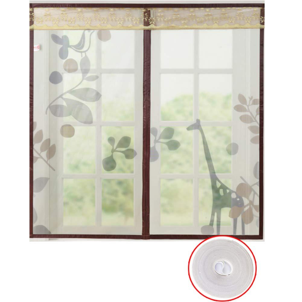 39x47inch Magnetic Window Screen Net Mesh,Mute Anti-Mosquito Self-Adhesive Full Frame Heavy Duty Window Netting Flyscreen Curtain-B 100x120cm