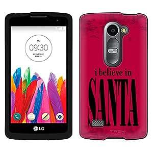 LG Tribute 2 Case, Snap On Cover by Trek I Belive in Santa Case