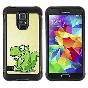 Suave TPU GEL Carcasa Funda Silicona Blando Estuche Caso de protección (para) Samsung Galaxy S5 V / CECELL Phone case / / Dinosaur Green Cute Reptile Drawing Art /