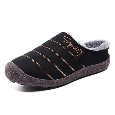 Orlasha Indoor House Slippers Men Women Cotton Knitted Anti-Slip Autumn Winter Shoes   Slippers