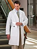 Meta Men's and Women's Unisex 40 Inch Labcoat With Three Outside Pockets And One Inside Pocket (White, Small)