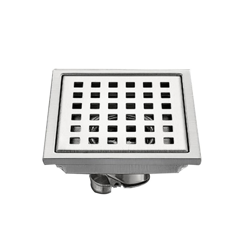DDY Square stainless steel floor drain pest control deodorant bathroom shower balcony sewer floor drain 15X15cm , A dilou