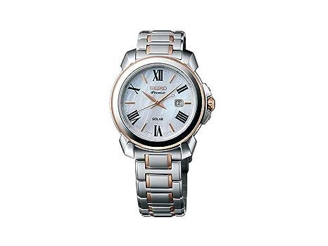 Seiko Reloj Analógico para Mujer de Energía Solar con Correa en Acero Inoxidable SUT322P1: Amazon.es: Relojes