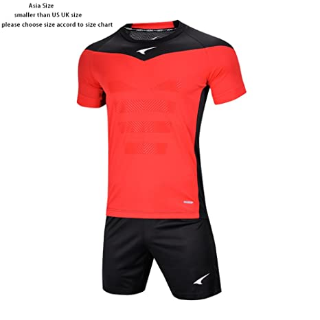 dd5fc00188c Ucan Football Goalkeeper Jersey Padded Short Soccer Goalie Uniform Men Kids  Black XXX-Small