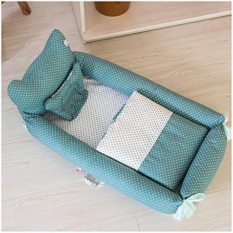XM-ベビーベッド ベビーベッド 折り畳み式ベビーベッド 旅行する ポータブル 折りたたみ 枕付き 多機能ベッド (Color : D)