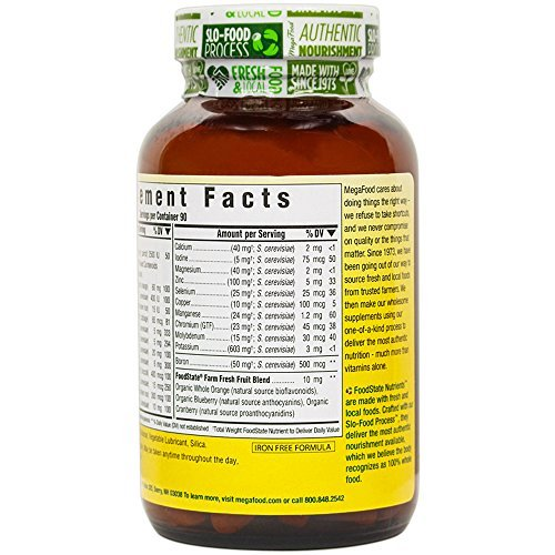 MegaFood Daily Iron Multivitamin for System Health, Energy and Mood Gluten-Free, Tablets