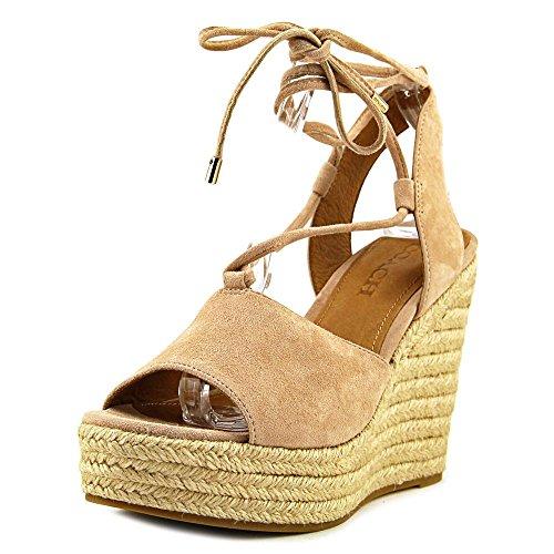 Scarpe Da Donna Dana Open Toe Sandali Piattaforma Casual Legno Di Faggio / Faggio