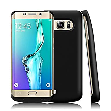 Samsung Galaxy S6 Edge Plus Funda Batería, 5200mAh Recargable Externa Portátil Batería Cargador Pack Power Bank Integrada Backup Alta Capacidad Extra ...