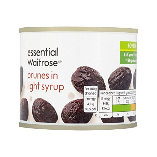 Price comparison product image Prunes in Syrup essential Waitrose 220g - Pack of 6