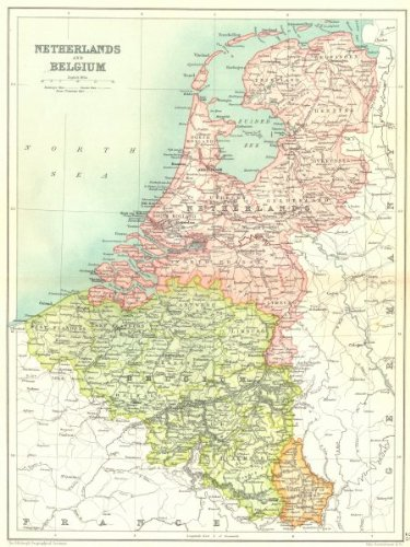 benelux netherlands belgium grand duchy of luxembourg1909 map