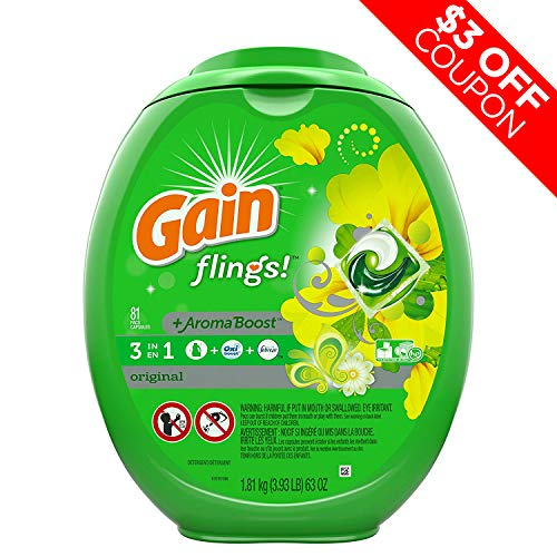 Fat Burner Reviews - Gain Flings Laundry Detergent Pacs, Original Scent, 81 count