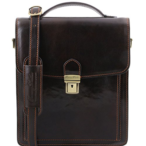 Unico Leather Taille Pelle In Borsa Mens Tracolla A Marrone Tuscany zW1vwdqxv